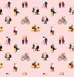 love couples people pattern vector image