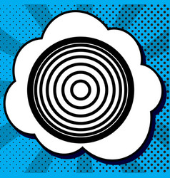 meridians from top view black icon in vector image