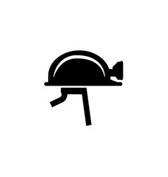 miner helmet and protective gear glyph icon vector image