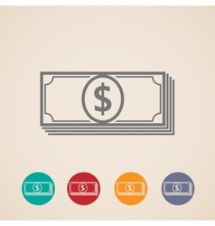 Money stack icons vector