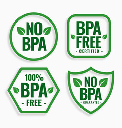 no bpa bisphenol-a and phthalates labels set vector image