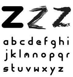 original font alphabet - easy apply any stroke vector image