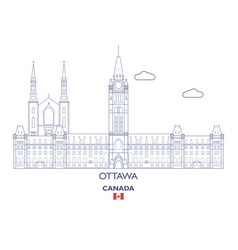 ottawa city skyline vector image