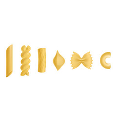 pasta and macaroni isolated design elements set vector image