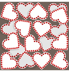 Pattern with many small hearts vector image