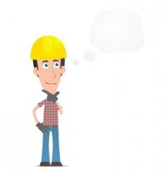 Pensive builder vector