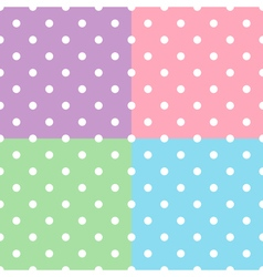 Polka Dot Seamless Patterns vector image