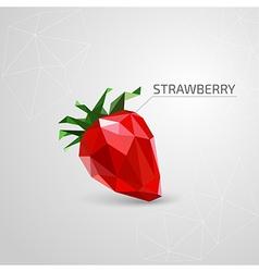 Polygon strawberry vector image vector image