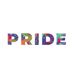 Pride concept retro colorful word art vector