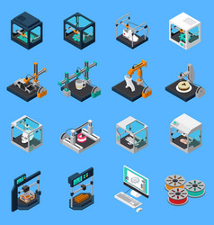 Printing industry icon set vector