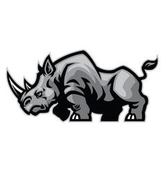 Rhino mascot character vector