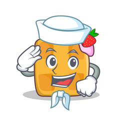 sailor waffle character cartoon design vector image
