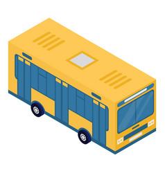 school bus icon isometric style vector image