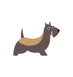 Scottish Terrier Dog Breed Primitive Cartoon vector image