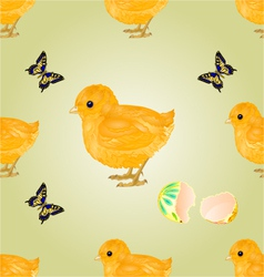 Seamless texture Easter chick Easter background vector image