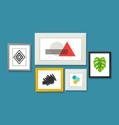 Set of various frames for pictures and photos vector