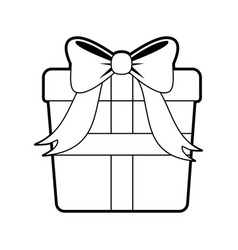 Sketch silhouette image giftbox with wrapping bow vector