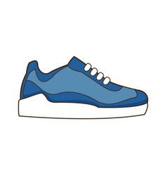 sneaker sport footwear training image vector image
