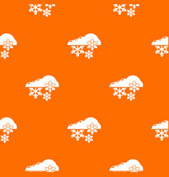 snowflake pattern orange vector image