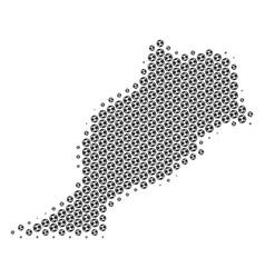 Soccer ball morocco map mosaic vector
