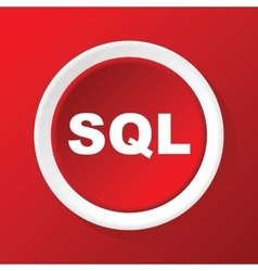 SQL icon on red vector