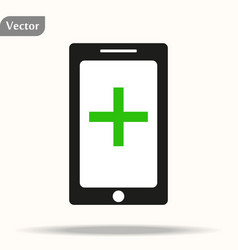 Tablet phone medical record check up access icon vector