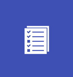 Test or survey icon vector