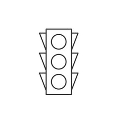 Traffic light outline icon vector