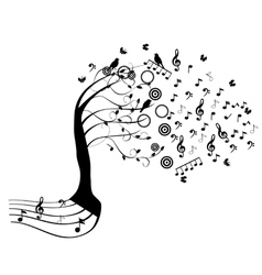 tree in wind vector image