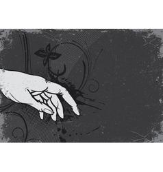 Vintage grunge background with hand vector