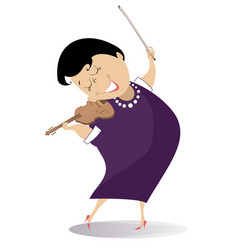 Violinist woman vector