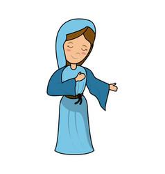 virgin mary cartoon vector image