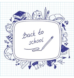 Welcome back to school school background of school vector