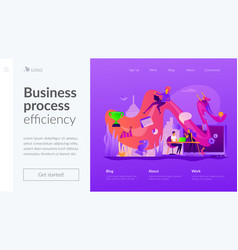 Workflow landing page template vector