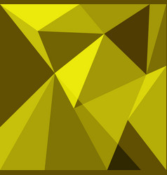 yellow low poly design element background vector image