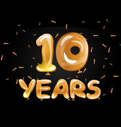 anniversary celebrations 10 years greeting card vector image