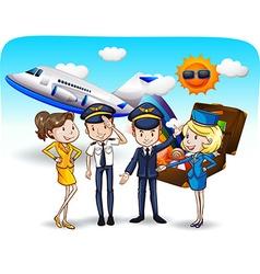 Cabin crew vector image