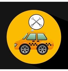Car taxi tools repair icon design vector