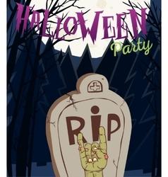 Halloween - Dead Man s arms vector image