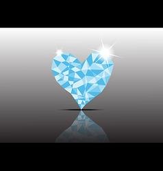 Polygon Ice Diamond Heart vector image vector image
