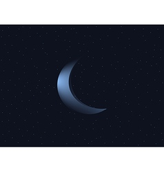 Crescent moon and starry sky vector image