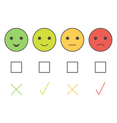 customer service smiley icons vector image