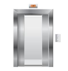 elevator with open doors vector image