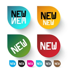 New Labels Set - Colorful Icons vector image vector image