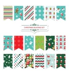 Christmas festive bunting flags set vector