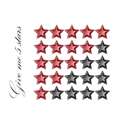 Gemstones stars rating isolated on white vector image vector image
