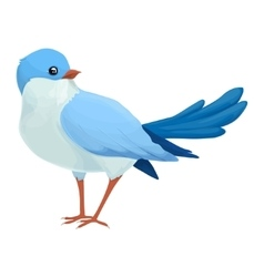 Realistic blue bird looks away Imaginary view vector image vector image