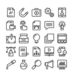 Web Design and Development Colored Icons 2 vector image vector image