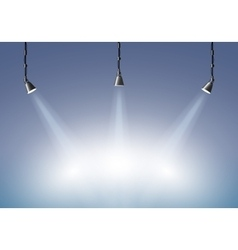 Background with lighting lamp vector image