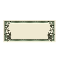 bill dollar print seal isolated icon vector image